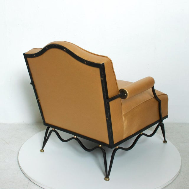 Black French Neoclassical Revival Mexican Modernist Arm Chairs Attr Arturo Pani - a Pair For Sale - Image 8 of 12