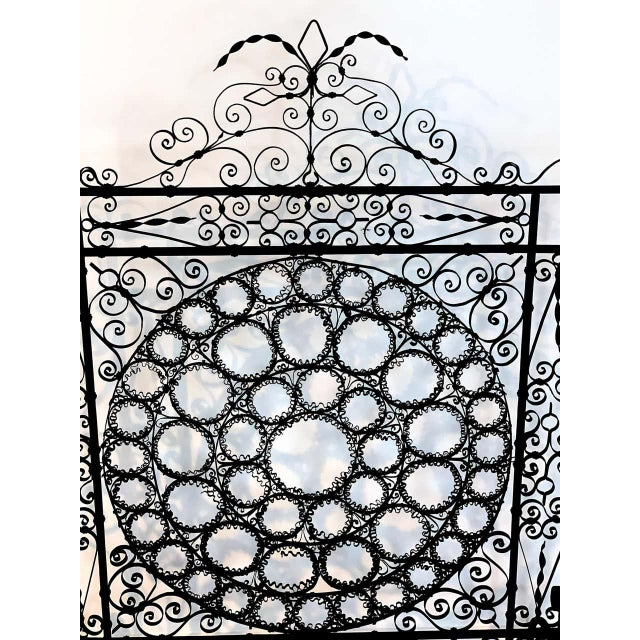 High Victorian Wrought Iron Wire Work Medallion Fires Screen For Sale - Image 4 of 13