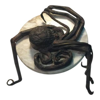 Unique Italain Brutalist Octopus Metal and Marble Table For Sale