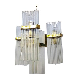 Large Vintage Murano Chandelier by Sciolari For Sale