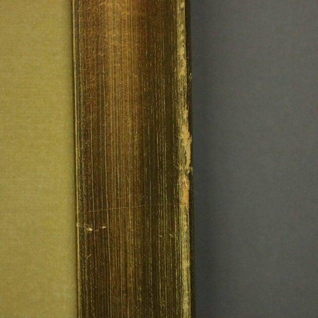 "Gold Antique French Hand Tinted Print ""Le Menuet De La Mariee"" by P L Debucourt For Sale - Image 8 of 9"