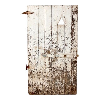 Antique Painted Wood Door For Sale