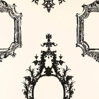 Sample - Schumacher Go Baroque Wallpaper in Noir & Blanc Preview