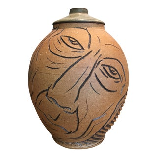 Vintage Jean Cocteau Style Perpetual Face Vase