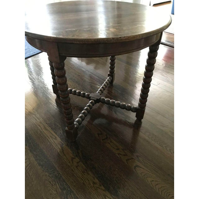 Round Wood Bobbin Table - Image 3 of 6