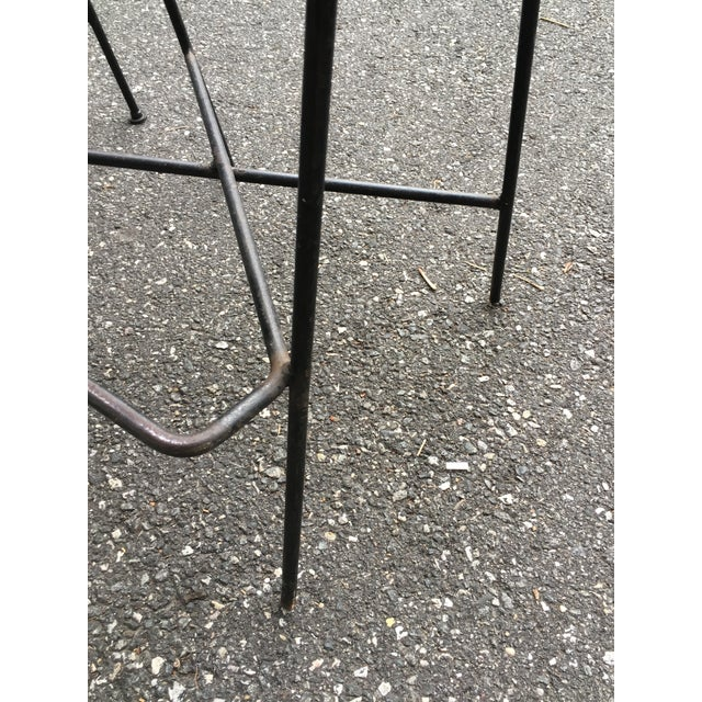 Vintage Mid Century Arthur Umanoff Counter Bar Stools - a Pair For Sale - Image 9 of 11