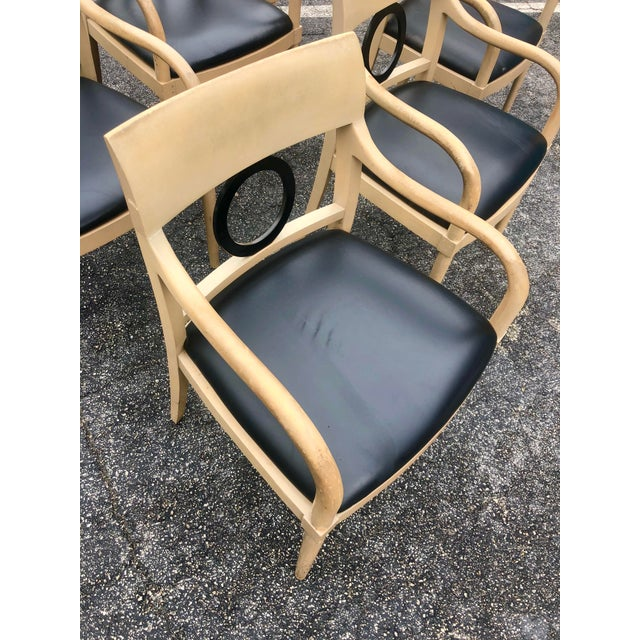 Gorgeous set of 6 Neoclassic dining chairs. Hand made detail is each element of the chairs. These guys need a little TLC,...
