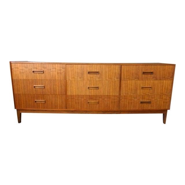 Danish Modern Teak Lowboy Dresser - Image 1 of 7