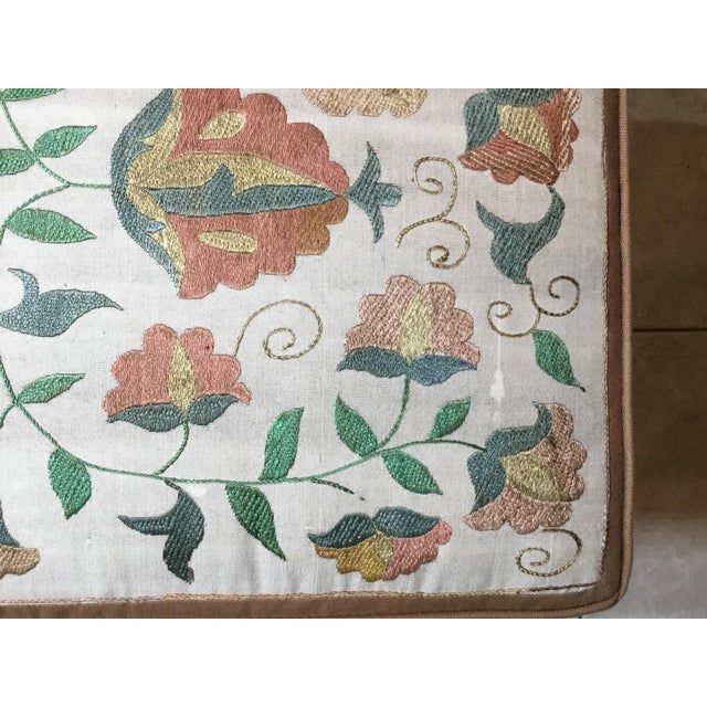 Antique Upholstered Chinese Foot Stool For Sale - Image 11 of 13