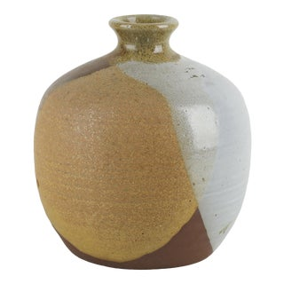 Vintage Sdw California Studio Pottery Vase For Sale