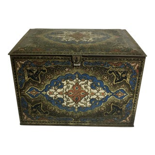 Vintage Heinz Boho Chic Persian Style Biscuit Litho Tin