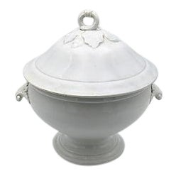 Vintage French White Porcelain Tureen