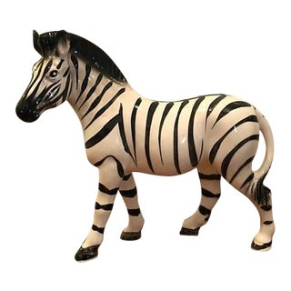 Mid-Century Ceramic Zebra Figurine