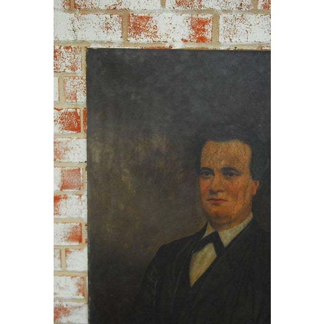 19th Century English Portrait of a Gentleman Oil on Canvas For Sale In San Francisco - Image 6 of 10