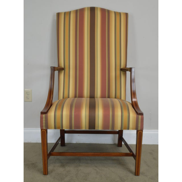 Stickley Colonial Williamsburg Collection Mahogany Martha Washington Lolling Arm Chair For Sale - Image 10 of 13