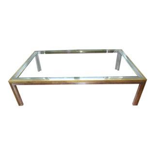 Vintage Mid Century Modern Chrome, Silver, Glass Table