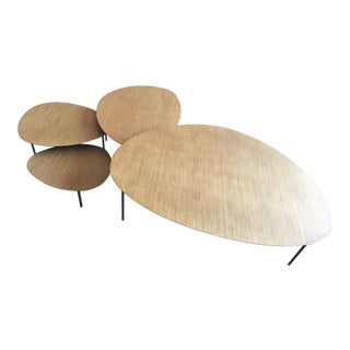 "Stua Spain ""Eclipse"" Walnut Nesting Tables - Set of 4 For Sale"