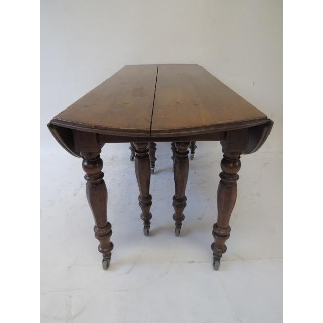 Antique Louis Philippe Dining Table - Image 4 of 8
