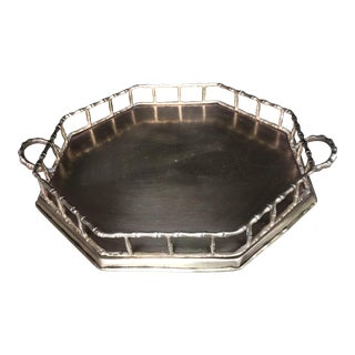 Faux Bamboo Brass Octagonal Serving Tray