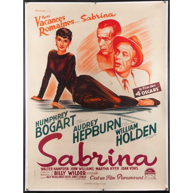 """Vintage Original 1950s French """"Sabrina"""" Audrey Hepburn Poster - Image 3 of 3"""