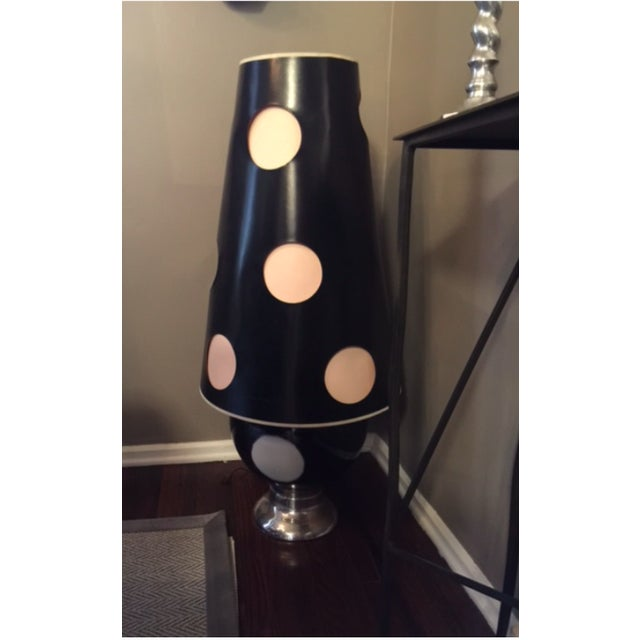 Black & White Mid Century Table Lamps - A Pair - Image 2 of 3