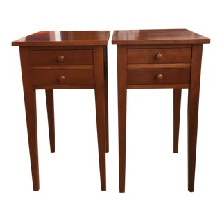Cherry Side Tables - A Pair