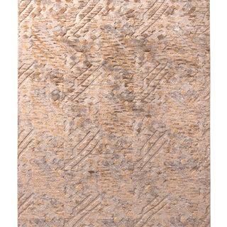 Rug & Kilim's Scandinavian Style Geometric Beige Brown Wool Pile Rug For Sale