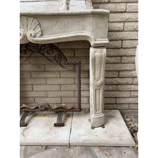 Baroque Modern Dennis and Leen Fireplace Mantel For Sale - Image 3 of 12