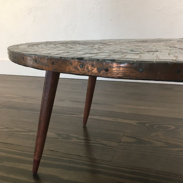 Mid Century Modern Mosaic Tiled Coffee Table For Sale - Image 4 of 8