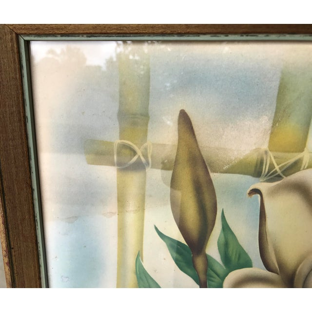 Mid Century Lotus Botanical Print by Ted Mundorff For Sale - Image 11 of 11
