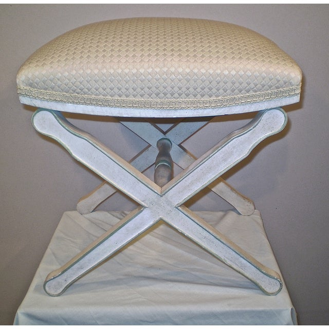 Upholstered X-Base Stool - Image 2 of 4