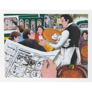 David Azuz, Dome of Montparnasse, Lithograph For Sale