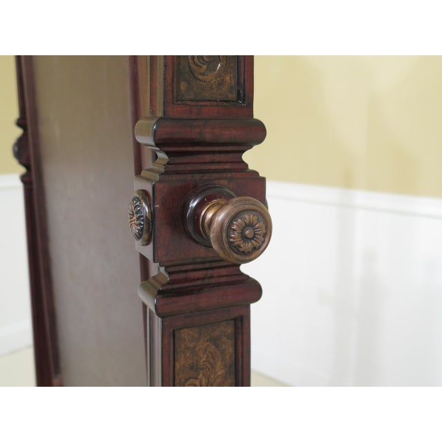 Maitland Smith Mahogany Cheval Dressing Mirror For Sale - Image 9 of 12