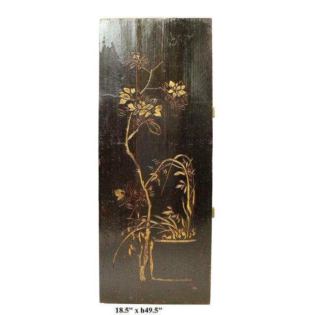Elm Vintage Restored Flower Carving Wood Panel For Sale - Image 7 of 7
