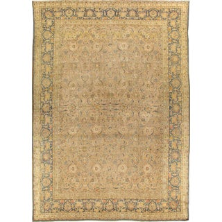 "Pasargad Antique Tabriz Wool Rug - 11'6"" X 16'8"" For Sale"