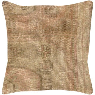 """1960s Turkish Oushak Pillow 17"""" X 17"""" For Sale"""