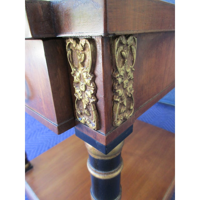 Gold Fine Arts Furniture Side Table With Ornate Cherub Motif For Sale - Image 8 of 13