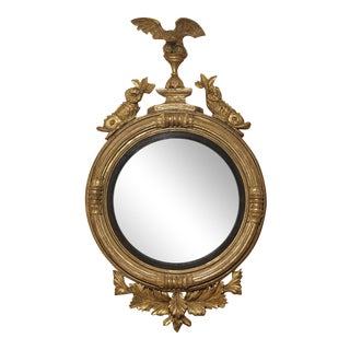 George III Giltwood Convex Mirror For Sale