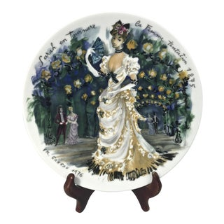 "Limoges Les Femmes Du Siecle, ""Sarah"" Decorative Plate For Sale"