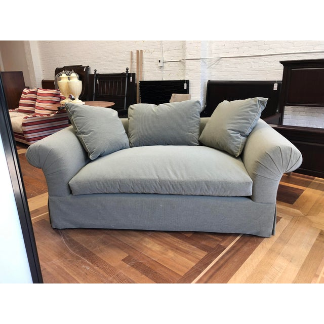 Contemporary A.Rudin Rolled Arm Lounge Sofa For Sale - Image 3 of 13