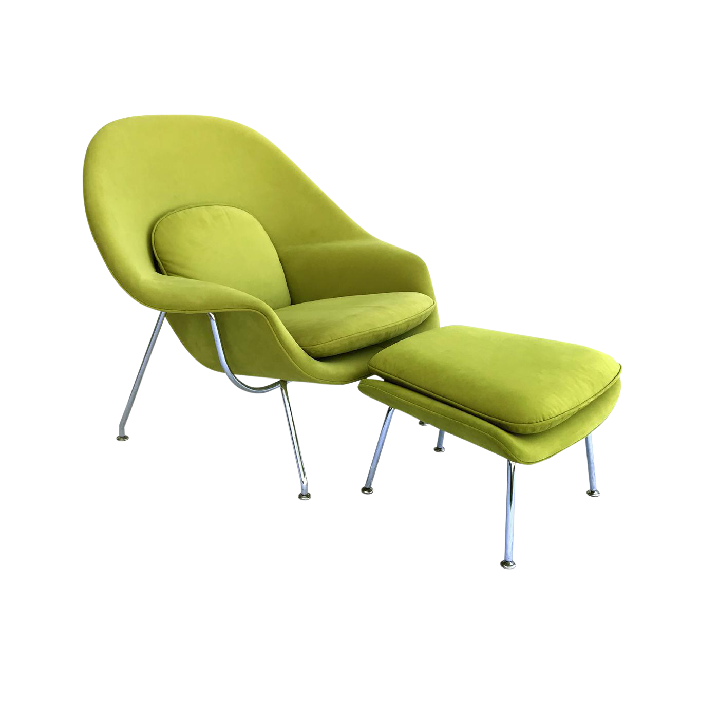 Knoll Saarinen Green Medium Womb Chair U0026 Ottoman