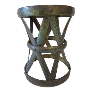 1960s Boho Chic Brass Minaret Cocktail Table For Sale