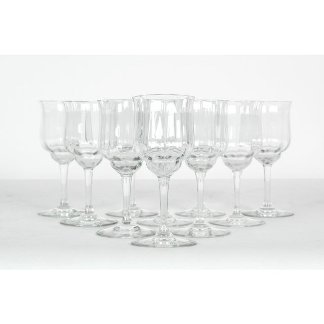 Vintage Baccarat crystal wine glassware set of ten pieces. All in excellent condition. Each glass measure 6 inches high X...