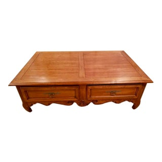 1990s Ethan Allen Country French Coffee Table For Sale