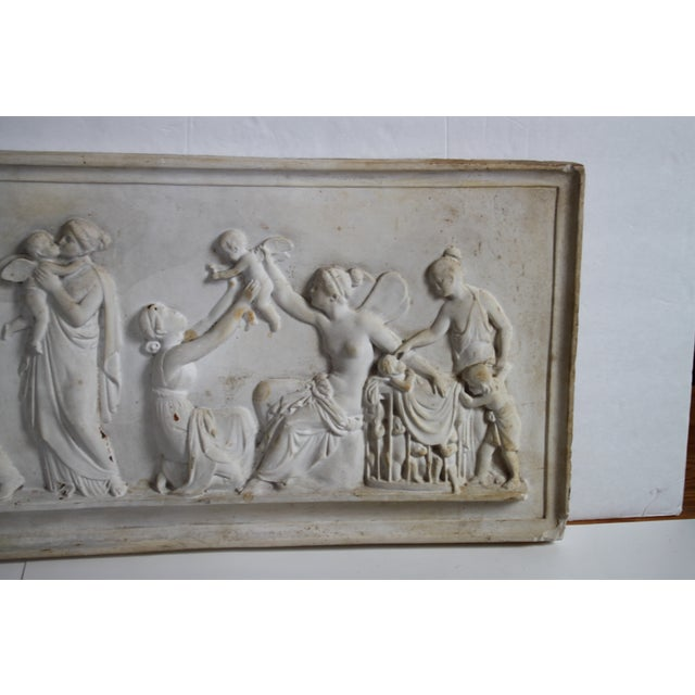 Neoclassical Plaster Relief Cherub Wall Art For Sale - Image 5 of 11