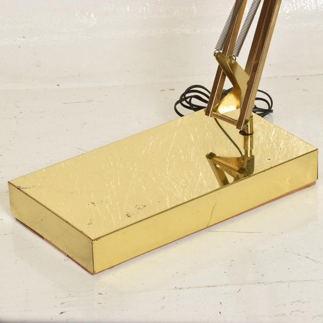 Mid-Century Modern Vintage Brass Floor Drafting Architect Lamp by Luxo For Sale In San Diego - Image 6 of 8