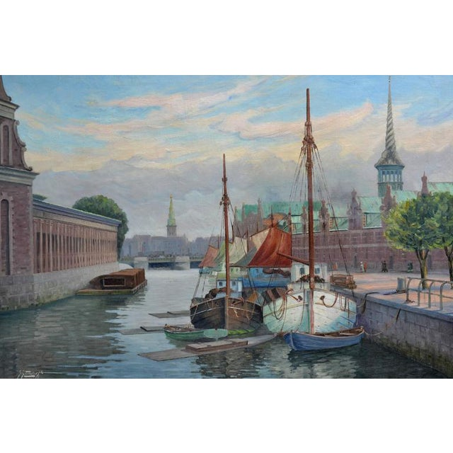 'Harbor, Denmark' by George Gundorff - Image 1 of 5