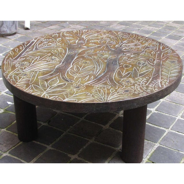 1940s Coffee Table by Helena Guastella For Sale - Image 4 of 7