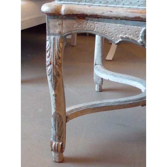 White 18th Century Painted Cane-Back Armchair For Sale - Image 8 of 11