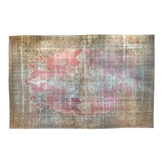 "Antique Distressed Kermanshah Carpet - 12' X 18'8"" For Sale"